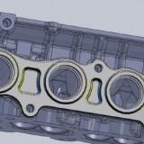 CAD Mazda MZR exhaust flange